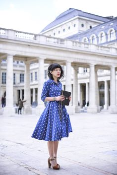 Le dressing de Leeloo on a vintage inspired look | Midi dress pinapples on