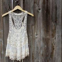 beach cover up lacy tank – shop hearts