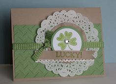 A quick post to show you a quick card I made for showing off the green! I used the single stamp Lucky Day! It's only available till the ...