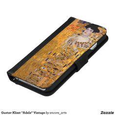 "Gustav Klimt ""Adele"" Vintage iPhone 6/6s Wallet Case - Sold at Encore_Arts on Zazzle."