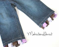 Ribbon edge on pants - I have a pair of 3T pants that are begging for this special treatment! :)