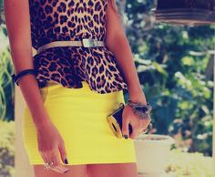 <3 cheetah and colored skirt