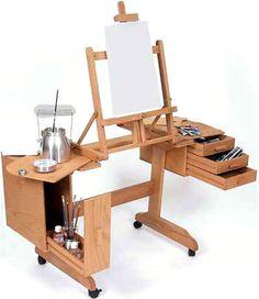 Art Studio Room, Art Studio Design, Painting Studio, Painting Lessons, Atelier Creation, Drawing Desk, Display Easel, Art Studio Organization, Art Easel