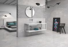 Piceno by Geotiles is a glazed porcelain stoneware collection available in three colors and inspired by natural stone. These tiles with neutral tones and elegant sobriety allow for timeless decors. #tiles #bedroom