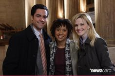 Medium publicity shot in train station of Danny Pino as Scott Valens, Tracie Thoms as Kat Miller and Kathryn Morris as Lilly Rush.  (Photo by Eric Liebowitz/Warner Bros./Getty Images)