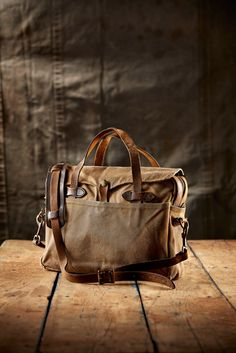 This is what 20 years of hard work does to your Filson bag. The Original Briefcase. Item No. 11070256