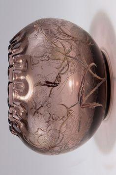 Vase 'Cardères sauvages', um 1885 - Gallé, Emile, Nancy