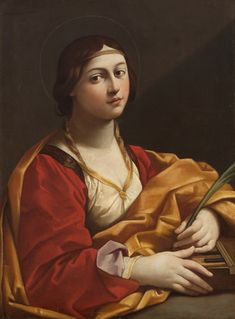 Saint Cecilia // circa 1610 // Workshop of Guido Reni // Kunsthistorisches Museum, Wien // #Christian #martyr #music