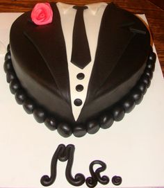 Tuxedo cake I made for a wedding shower;)