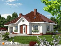 Dom w lotosach 2 Modern Bungalow House, Home Fashion, Mansions, House Styles, Home Decor, Houses, Interiors, Minimalist House, House 2