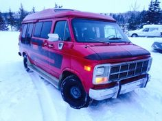 """santa retired his sleigh & he's going vannin!!! selling our beautiful custom 1981 gmc vandura conversion """"boogie van"""" !! """"laced & confused"""" fully loaded , custom painted ,insulated & plush interior (smells like rich mahogany & leather bound books) features a rear heater, extended roof ,power windows & locks , period overhead console , man"""