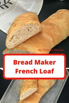Homemade French bread that is mixed in a bread maker than baked in the oven for that classic crispy crust that French bread should have. Bread Maker French Bread Recipe, Crusty French Baguette Recipe, Baguette Bread, Artisan Bread Recipes, Bread Maker Recipes, Healthy Bread Recipes, Loaf Recipes, Muffin Recipes, Best Homemade Bread Recipe