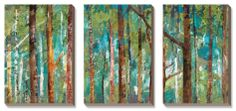 Woodland Canvas Art Set by Caroline Gold at Art.com