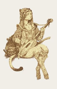 Tabaxi female bard dnd