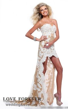 Buy FREE SHIPPING- High Low Beautiful Lace  Matric Farewell Dress - US Size 2 to 24W for R2,490.00