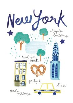 Illustrations for the spanish clothing brand Zara - Baby Girl Illustration Mode, Travel Illustration, Illustrations, Zara Baby Girl, New York Drawing, Voyage New York, Travel Drawing, Grafik Design, City Art