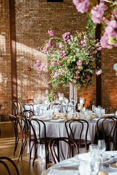 Tall Cherry Blossom Centerpieces | Tory Williams Photography https://www.theknot.com/marketplace/tory-williams-photography-new-york-ny-427900