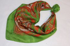 Scarf  Liberty of London  silk  vintage  bright by TheSassySewer, $18.95