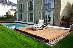 Schwimmbecken mobile Terrasse