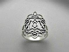 Sterling Silver Celtic Ring Sizes 6 7 8 9 Gift Boxed by Impulse18K