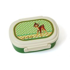 Froy & Dind Bambi vintage green lunch box