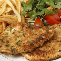 This breaded chicken breasts recipe makes tender juicy chicken that is great with fries or any other type of potato.. Breaded Chicken Breasts Recipe from Grandmothers Kitchen.