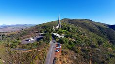 The Afrikaans Language Monument is located on a hill overlooking Paarl, South Africa. Aerial View, Great Places, South Africa, Country Roads, Landscape, Aviation, African, Culture, Image