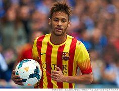 Neymar da Silva Santos Júnior (Brazil) #Worldcup Known simply as Neymar Jr, the 22 year-old Brazilian is one of soccer's rising stars.