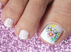Discover recipes, home ideas, style inspiration and other ideas to try. Pretty Pedicures, Pretty Toe Nails, Cute Toe Nails, Toe Nail Art, Love Nails, Pretty Nail Designs, Toe Nail Designs, French Pedicure, Manicure And Pedicure