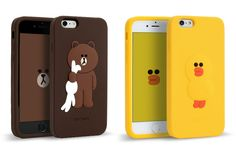 LINE FRIENDS BROWN & SALLY Character Silicone Case For Apple iPhone 6 / 6 Plus  #LINE #LINEFRIENDS #BROWN #CONY #phonecase #iphone #cute #apple #iphone6plus #iphone6 #smartphone #Silicone #LINEFRIENDSxDESIGNSKIN