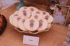 Virgen de Guadalupe cookies #desserts for holy communion.