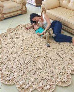 Absolutely stunning round carpet 82 in doily rug mint color carpet shabby chic rug for the livi – Artofit Crochet Doily Rug, Crochet Rug Patterns, Crochet Carpet, Crochet Round, Crochet Home, Knit Crochet, Free Crochet, Tapete Doily, Shabby Chic Rug