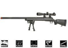 Echo 1 Full Metal M28 Bolt Action Sniper Rifle Airsoft Gun ( BLK )