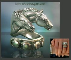 Two Horse Ring by HorseLadyGifts on Etsy