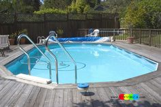 Swimming Pool:Doughboy Pool Cozy and Smart Swimming Pool Ladder Pads Design Ideas