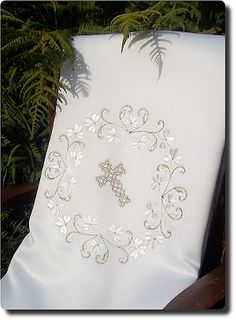 Irish Clover Design Baptism Blanket
