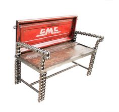 https://flic.kr/p/r3cPpb | Old Truck Tailgate Bench | Recycled Salvage Design www.recycledsalvage.com