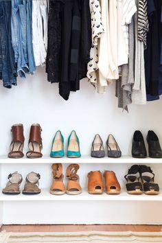 organized shoe close