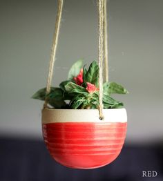 Ceramic Hanging Planter | Suspend your succulents and houseplants in midair with this ce... | Pots & Planters