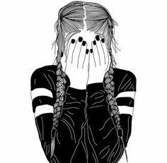 girl drawing black and white Tumblr Girl Drawing, Girl Drawing Easy, Tumblr Drawings, Easy Drawings, Girl Drawings, Drawing Ideas, B&w Tumblr, Tumblr Hipster, Black And White Girl
