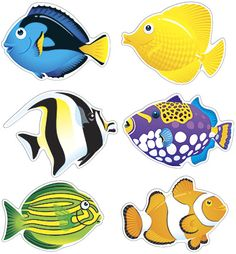 ARGUS 6 Designs Fish Friends Classic Accents Variety Pack 36 Per Package Tall Argus