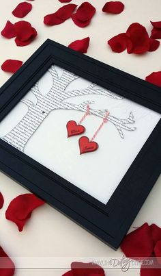 DIY Romantic Framed