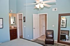 There's no shortage of wall space either for furniture or artwork in the master bedroom. http://teamwoodall.com/greens/