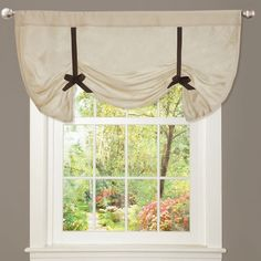 Features:  -Please Note: Valances are often pictured in multiple quantities. Please measure your window to determine how many items you need to order.  -Unlined and light filtering .  -Fabric content: