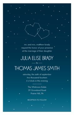 Starry Night Wedding Invitation | Vistaprint I'm not crazy about this particular one but check out for wedding programs and thank yous etc. Vistaprint