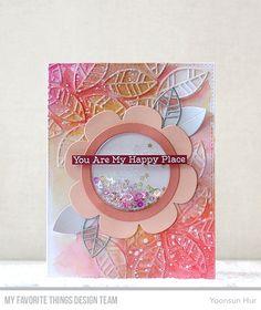 Shaker Flower Die-namics, Bold Stripes Cover-Up Die-namics, Essential Sentiments Stamp Set - Yoonsun Hur  #mftstamps