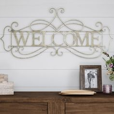 Metal Cutout- Welcome Decorative Wall Sign-3D Word Art Home Accent Decor-Perfect for Modern Rustic or Vintage Farmhouse Style by Hastings Home