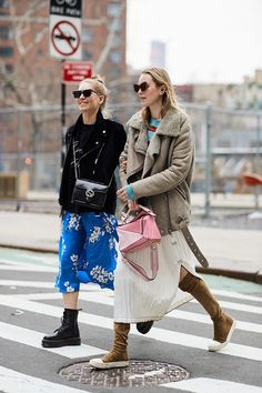 Flowers with camouflage, down jacket on swimsuit and underwear over sweater: what is worn in New York | Harper's Bazaar