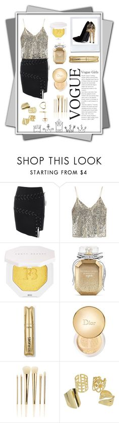 """Lace up! [contest]"" by mansiag ❤ liked on Polyvore featuring Alice + Olivia, Puma, Victoria's Secret, Christian Dior, Sephora Collection, Estella Bartlett, lace and shimmer"