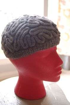 mom's grey matter - a brain hat for the neurosurgical nurse